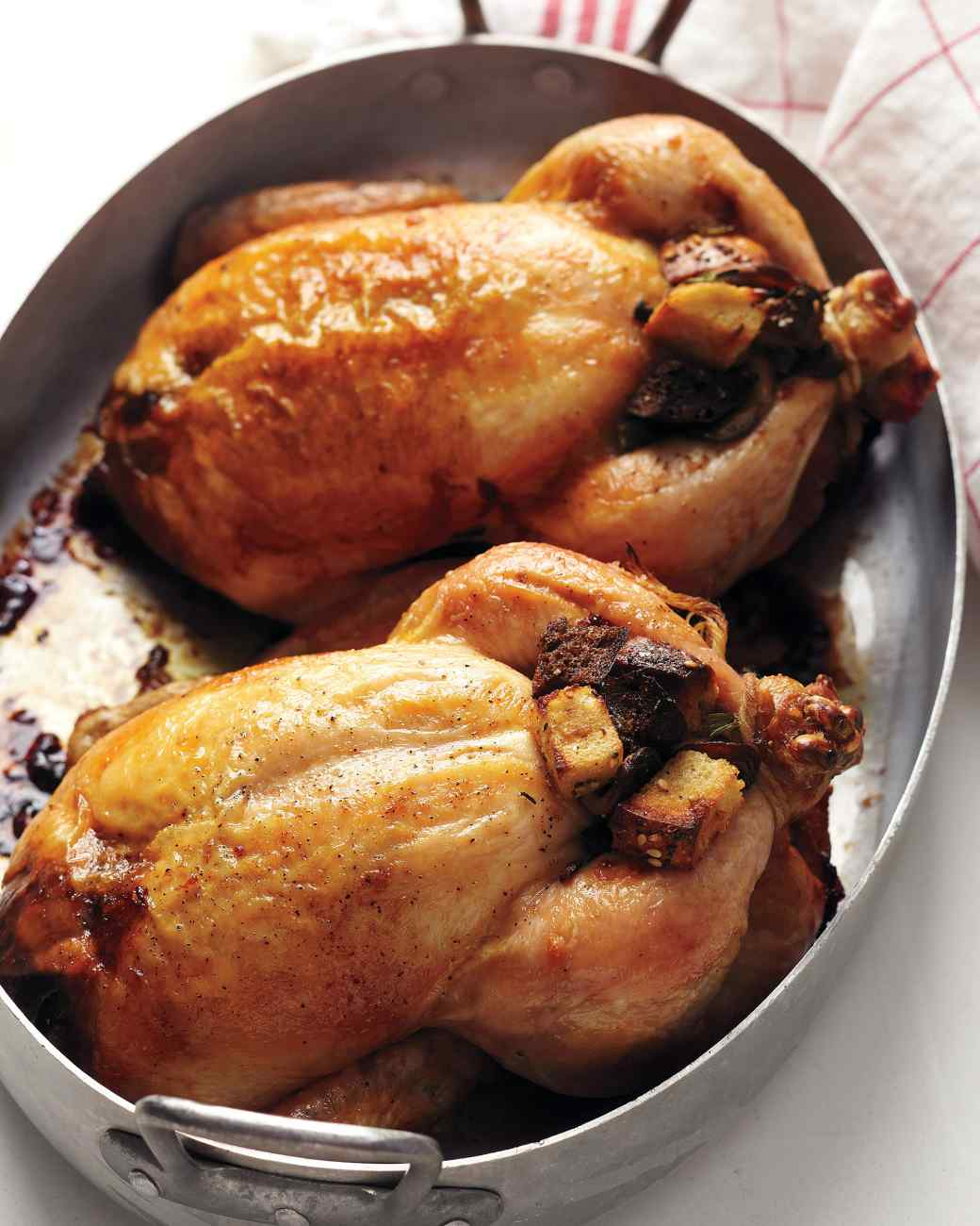 Cornish hen with bagel stuffing